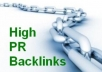 Create for you Over 100 PR 3 to PR9 High Quality backlinks plus over 500 Dofollow and noFollow to your site