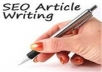 submit your article mannually to 30 high PR article sites