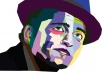 draw you as cool wpap style