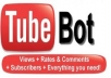 give you a working youtube bot that can deliver 3,000-30,000 views a day limited time offer