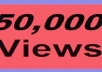 deliver 50,000+ youtube views, guaranteed High Quality youtube views
