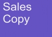 write a Sales Copy