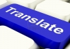 translate any text from English to German up to 1000 words