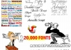 give you my 20,000 awesome FONTS collection