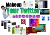 create awesome TWITTER background,header and profile picture