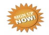 Promote Your Site & Gives You 500+ Real Human Sign ups in your site.