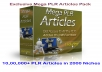 give you 1,000,000+ PLR Articles in 2000 Niches, Copyscape Checker Tools