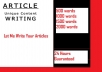 write you a quality 500 word article
