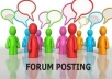 I will promote your website on 4000 members forum
