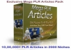 Give 1,000,000+ PLR Articles on 2000 Niches+