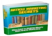Show you Article Marketing Secret