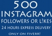 instagram followers 500