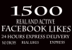 1500 facebook photo or post likes