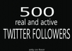 give you 500 REAL Twitter Followers