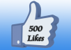 provide 500+ Real Facebook Likes