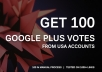 get you 100 US Google Plus Votes