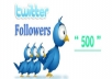 Provide You 500+ Targeted Twitter Followers In 24Hrs