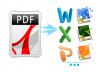 convert, reformat or type any format of PDF,Word or Powerpoint