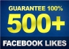 Gives you 500 Facebook Likes Real,& Fast Service try it now