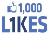 Gives you 1,000+Instantly started Guaranteed Facebook likes
