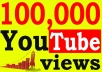 Give You High Quality 100,000+YOUTUBE views
