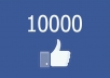 Add 10,000 FaceBook Fan Page Real Likes