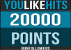 give you a new Youlikehits account with 20.000 Points