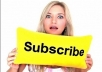 give you, 220+  high quality YouTube subscribers On your YouTube Video channel