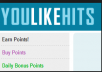 give you a new Youlikehits account with 40.000 Points
